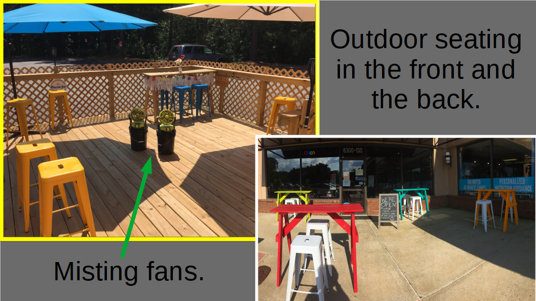 Outdoor Seating in the Front and Back